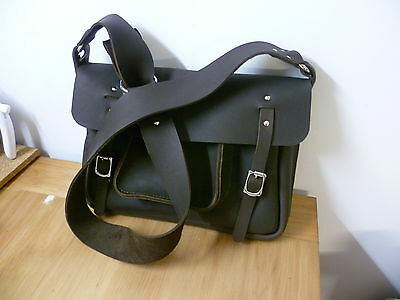 Satchel, shoulder bag Motorcycle, bicycle handmade leather Australian made.