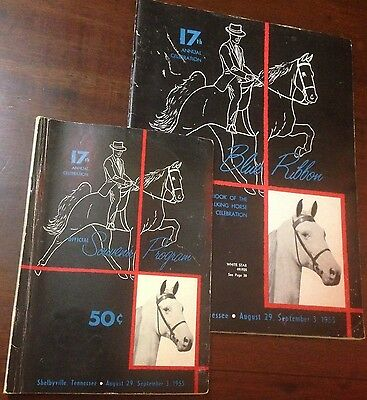 The Blue Ribbon Tennessee Walking Horse Yearbook and Program 17th Edition (1955)