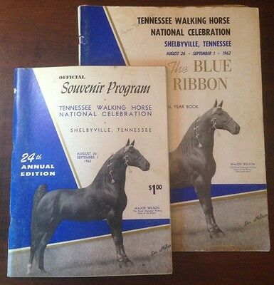 The Blue Ribbon Tennessee Walking Horse Yearbook and Program 24th Edition (1962)