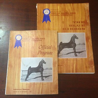 The Blue Ribbon Tennessee Walking Horse Yearbook and program 27th Edition (1965)