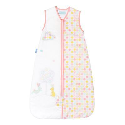 Grobag Blossom Bunny Baby Sleeping Bag 6-18 Months 2.5 tog Front Zip Thermometer