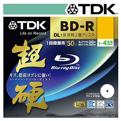 TDK 50GB 4x Speed BD-R Blu-ray Double Layer Recordable Disk 1Pcs Jewel Case Pack