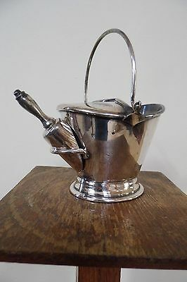 antique silver suger scuttle scoop silver plate