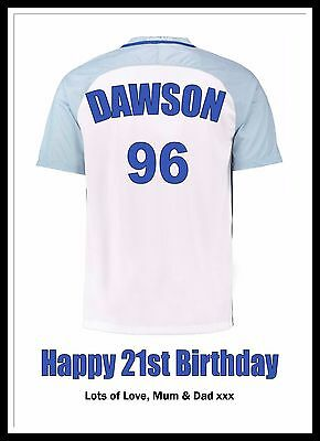 PERSONALISED Football WORDART PRINT XMAS FATHERS DAY GIFT Dad Friend Present A4