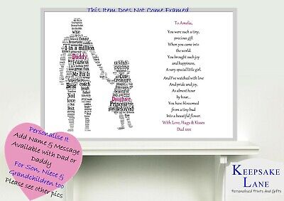 10th 13th 16th Personalised Dad Daughter Birthday Art Present Gift Print Poem