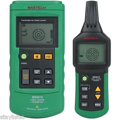 MASTECH MS6818 Advanced Cable Tracker Pipe Detector  Locator Network Wire Tester