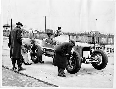 Group of vintage Indianapolis Racing Pictures From Firestone Archives