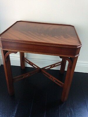 Bevan Funnell Mahogany Reprodux Lamp Table