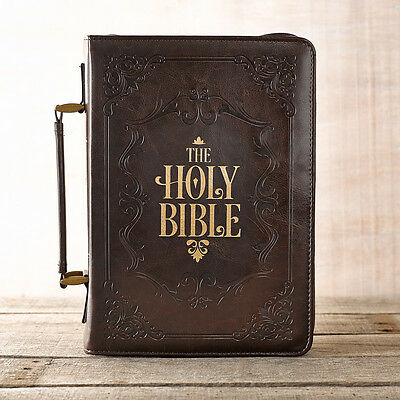 Brown Holy Bible LuxLeather Bible Cover. FREE DELIVERY