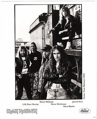Iron Maiden - Real Live One US Promo Press Kit. Photo & 1 Page Bio. Capitol 1993