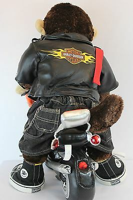 Build A Bear Harley Davidson Motorcycles Jacket Plush Monkey Guitar Jeans M4