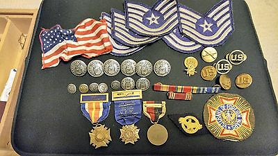 US Army Of Occupation Medal and mix lot of 34 things