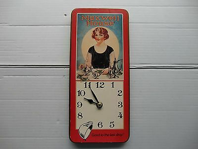 Vintage  MAXWELL HOUSE COFFEE ADVERTISING CLOCK SIGN