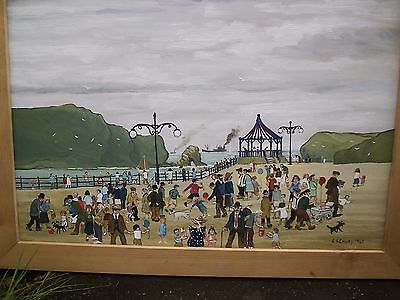 L.s.lowry - Manchester School Oil Painting On Board - Matchstick Men