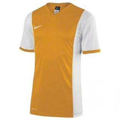 NWT Nike Men's Park Derby Soccer Dry-Fit Jersey Gold / White Size Small