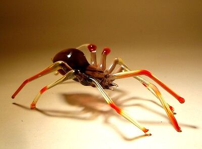 Blown Glass Figurine Art Insect Purple and Red SPIDER