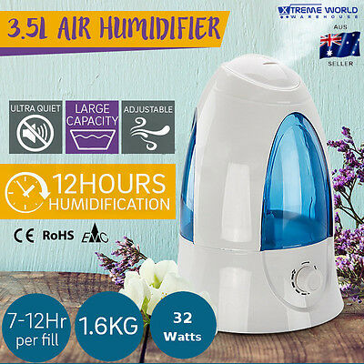 Ultrasonic Cool Mist Stylish Portable 3.5L Air Humidifier, Air Purifiers