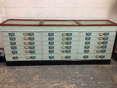 Victorian Museum Cabinet 18 Drawer With Showcase