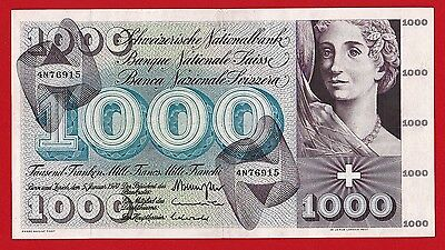 NICE  SWITZERLANDN 1000 Francs  1970  SCARCE