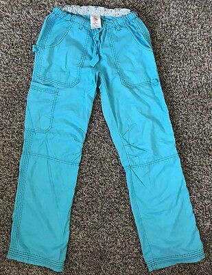Koi By Kathy Peterson Womens Lindsey Scrub Cargo Pant Size XS Light Blue
