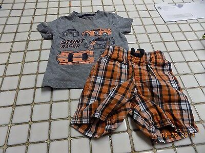 boys carter's shorts and shirt outfit size 12-18mos *READ*