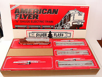 Lionel American Flyer S Gauge Silver Flash Diesel Engine Passenger Set 6-49606