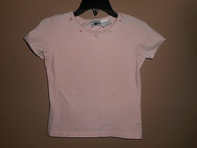 Girls Hartstrings Pink T Shirt Knit Top Solid Size 8 Youth Short Sleeve