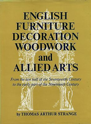 Antique English Furniture Woodwork - Period Design Elements / Scarce Book