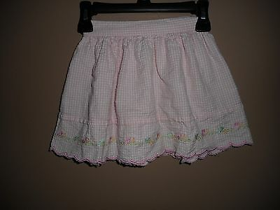 Toddler Girls Hartstrings Pink Gingham Skirt Size 2T Elastic Waist
