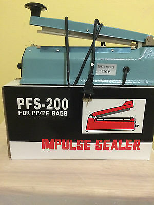 8 Inch Long Heat Sealing Hand Impulse Plastic Sealer Machine Packaging Tools