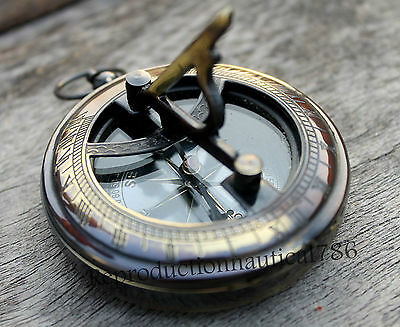 Maritime Antique Brass Navigation Compass Nautical Camping Marine Compass Gift