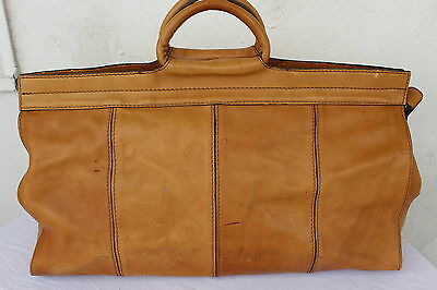 VINTAGE Echt LEDER Reisetasche Cognac Tasche Weekender LEATHER Travel Bag Sport
