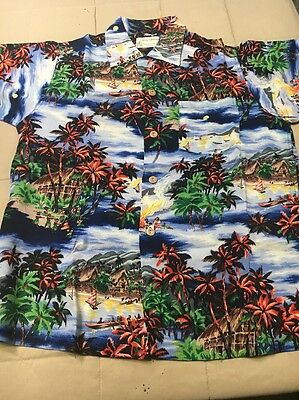 1950s Crepe Rayon Royal Hawaiian Label Aloha Shirt