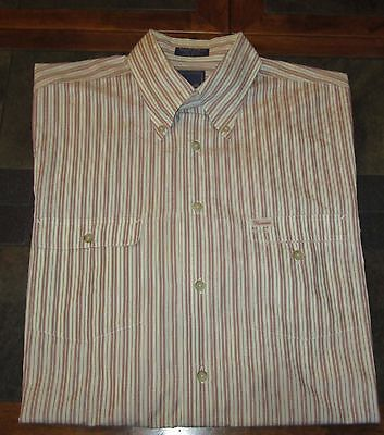 Men's Faconnable All Cotton Long Sleeve Button Up Shirt Size Large LG L