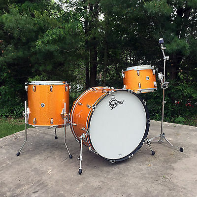 Gretsch GB-RC443 Brooklyn 3pc Rock Shell Pack in Gold Sparkle