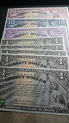 Set Of Norfed Currency Note 1,5,10,20, Total $40 Notes Mint Condition Very Rare