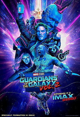 """IMAX - MARVEL STUDIOS - """"GUARDIANS OF THE GALAXY"""" VOL.2 - Movie Poster 13""""x19"""""""