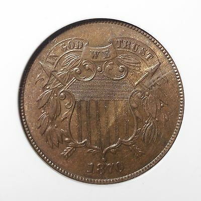 1870 Two Cent Piece NGC MS63 BN ***Rev Tye's Stache*** #9002256