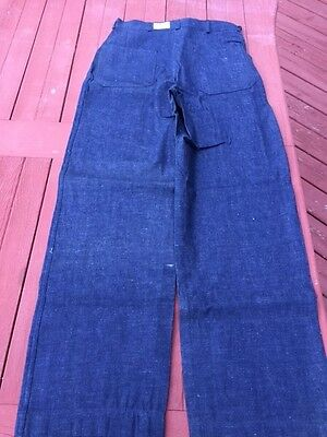 US Navy Denim Dungarees Jeans Pants WWII Military  button fly 31 x 32 NXsx52623