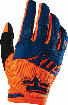 Fox Racing Mens Orange/Blue Dirtpaw Race Dirt Bike Gloves MX ATV 2016