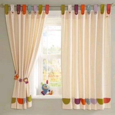 Mamas and Papas Timbuktales curtains & matching tie backs