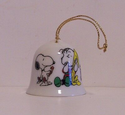 Snoopy Linus Mini Bell Christmas Ornament Peanuts Candy Cane Blanket Vintage