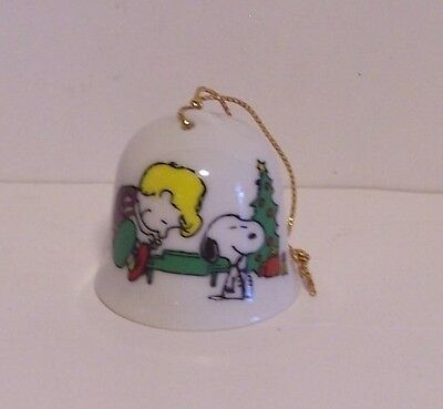 Snoopy Schroeder Mini Bell Christmas Ornament Piano Tree Peanuts Vintage