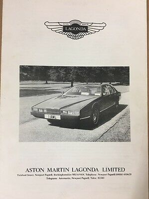 Car Brochure - 1981 Aston Martin Lagonda - UK