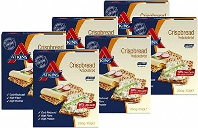 Atkins Low Carb High Fibre Crispbread Multipack - 6 X 100G - Boxes