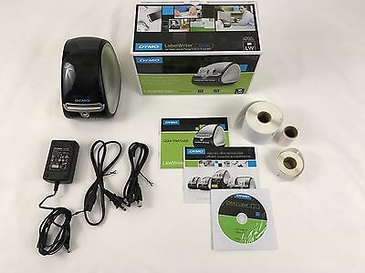 "DYMO LABELWRITER 450 TURBO THERMAL LABEL PRINTER W/ WITH 2-5/16"" x 7-1/2"" ROLL"