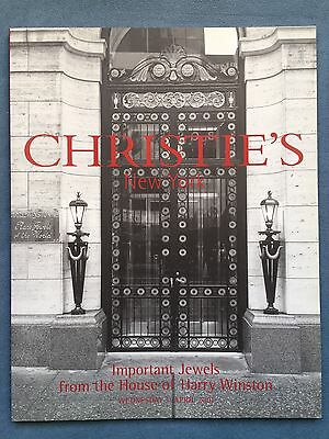 christies catalog Important Jewels From The House Of Harry Winston NY 2001