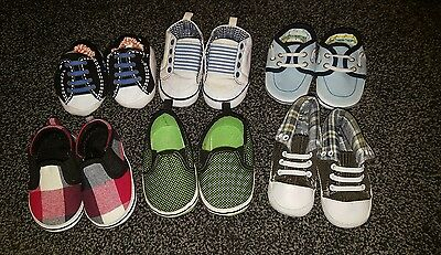 Bundle of baby boy shoes 6-9 months bhs etc new