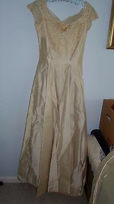 Vintage Ivory Wedding Gown Satin & Lace from 1958