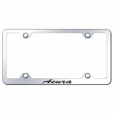Acura RDX Logo License Plate Notched Frame Mirror Chrome Stainless Steel
